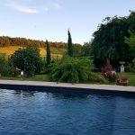 Piscine fin d'après-midi 2 à La Cadole de Chardonnay